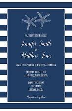 Wedding Invitations Beach Starfish 50 Invitations & RSVP Cards