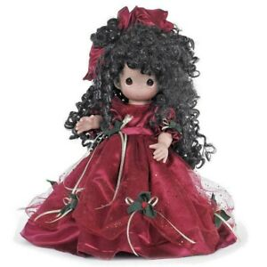 "Precious Moments 16"" TREASURES OF CHRISTMAS BRUNETTE Christmas Doll"