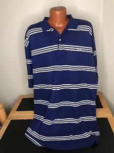Men's Lacoste S/S Polo/Golf Shirt Size 5XL XXXXXL - Striped - Cotton