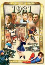 1981 DVD Greeting Card by Flickback: 37th Birthday, Anniversary, Reunion Gift