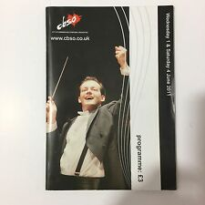 City Of Birmingham Symphony Orchestra Programme 2011 Signed - Andris Nelsons