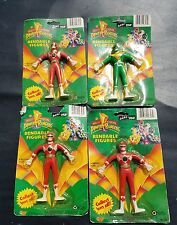Lot Of 4 Mighty Morphin Power Rangers Bendable Figure Ranger Tommy Toy 1994