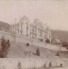 VEVEY GRAND HOTEL ALPES LAC LEMAN SUISSE 1880  17 X 12 cm  SCHWEIZ SWITZERLAND