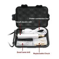 0.8-1.2mm Mini Micro Electric Aluminum Hand Portable Handheld Drill +USB Power