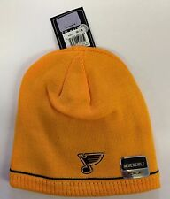 St. Louis Blues Knit Beanie Toque Winter Hat Skull Cap New Center Ice Reversible
