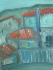 Expressionist cityscape landscape oil painting