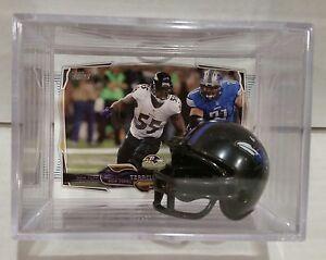 Terrell Suggs Baltimore Ravens Mini Helmet Card Display Case Shadowbox Autograph