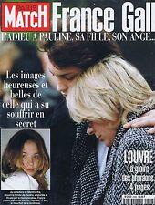 COUVERTURE DE MAGAZINE PARIS MATCH 2536 01/01/98 FRANCE GALL adieu à sa Fille