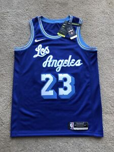 Lebron James Lakers Hwc Swingman Jersey Blue Size 44 Hardwood Classics  Nike