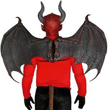 Hommes Femmes Extra Large Dragon Noir Démon Cosplay Ailes Costume Fancy Dress Prop