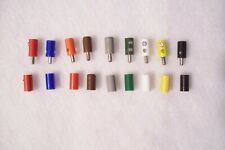 (097) Old Style Lot Of Lgb/Marklin Ho Plugs/ Sockets. 9 Colors 1 Each,18 Total