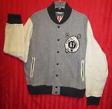 Men's DENIM & SUPPLY RALPH LAUREN Cotton Terry Baseball Jacket Gray Size 2XL NWT