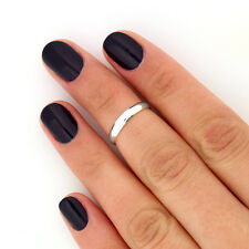 sterling silver simple knuckle ring above knuckle band midi ring size 4 us (T35)