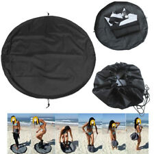 Black Surfing Wetsuit Change Mat/ Waterproof Nylon Carry Bag Beach Surf Bag