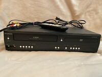Funai DV220FX4 DVD VHS Player 4 Head VCR Combo Tested Working - With Remote