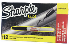Sharpie Industrial Permanent Markers, Fine Point, Black, Pack Of 12
