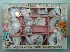 Vintage children's toy china tea set in original box made in Japan