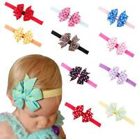 Infant Baby Girls Headband Hair Band Bow Knot Dot