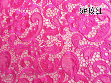 G10 hot pink Guipure Lace bridal lace 120cm wide-Sold  by 1/2 yard