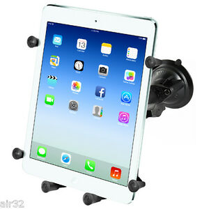 RAM X-Grip Single Suction Cup Mount for iPad 1 - 7, Air, Air 2, Air 3, Others