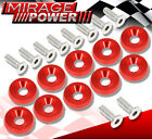 VIP M6X20MM Engine Hood Fender Washer Bolt Billet Anodized Red 10PCS For Nissan photo