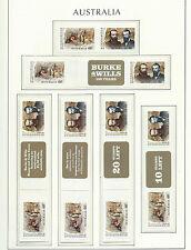 AUSTRALIA 2010 - SNP Sprint Roll  - BURKE & WILLS  + labels - Mint MNH