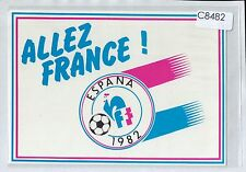 C8482ryt Allez France Espana 1982 Soccer Football postcard