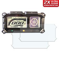2 x YAMAHA FJ-09 SUPER TENERE 2015+ Dashboard Screen Protector: Ultra-Clear