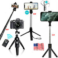 Selfie Stick Tripod Remote Control Holder Mount Stand For Camera Gopro Phone US