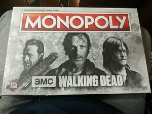 AMC The Walking Dead Monopoly (Brand New) Rare Copy - Plastic Ripped
