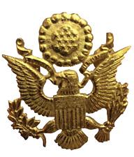 US WW2  Brass Cap/ Hat Badge Military Pin Cap Badge
