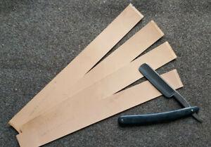 4 Streichleder Streichriemen Abziehleder Echt Leder für Rasiermesser Schärfen