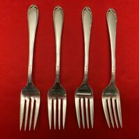 LOVELACE by 1847 Rogers Bros. Silverplate Set of 4 SALAD FORKS 1938