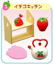 """Re-Ment """"Strawberry World"""" #1 - Kitchen Kettle, 1:6 minis Barbie dollhouse scale"""