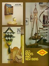 1970s Macrame Cup Rack Pattern - Rare Craft Book: # Z19 Old Knots And New Ideas