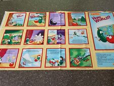 How In the World? Veggie Tales Book Panel 23x42 QT Blocks Religious God