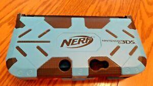 3DS For Nintendo XL Handheld Maximum Protection NERF Armor Case Black/Blue