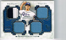 JEREMY HELLICKSON 2014 TOPPS MUSEUM COLLECTION 4 PIECE JERSEY # 57/99 TAMPA RAYS