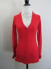 Kate Spade Red Cashmere V Neck Bow Cardigan Sweater XS  EUC  CG