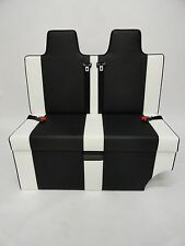 ROCK AND ROLL BED HEADREST 3/4 T4 T5 VIVARO BLACK & WHITE PROFESSIONALLY TRIMMED