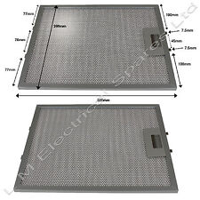 2 x 320 x 260mm Metal Oven Cooker Hood Extractor Fan Vent Filters For Candy