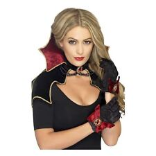 Ladies Fever Countess Vamp Collar, Gloves and Cape Set Vampire Halloween Sexy