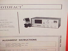 1968 EICO CB RADIO SERVICE SHOP MANUAL MODEL 779A (SENTINEL PRO)