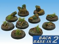 25mm Resin Scenic Bases (20) Round Forest Warhammer 40k