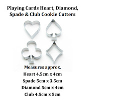 Poker Card Casino Las Vegas Game Cookie Cutter  Cake Biscuit Fondant