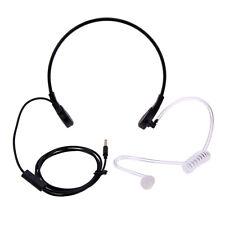3.5mm Kehlkopfmikrofon Headset Ohrhörer Schallschlauch Covert für IPHONE Sams tt