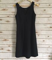 Banana Republic Women's 6 Black Wool Blend Sleeveless Dress Size 6