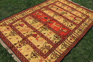 Super Fine Quality Full Soumak Chiks Pattern Wall Hanging Rug,-Silk Soumak Rug