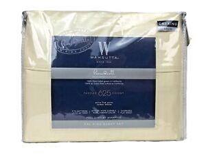 Wamsutta Pimacott 625 TC 4 Piece Sheet Set 100% Pima Cotton Yellow Cal King $120