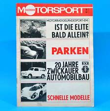 DDR Illustrierter Motorsport IMS 9/1969 MZ Zwickau Porsche 917 Citroen AMI 8 W